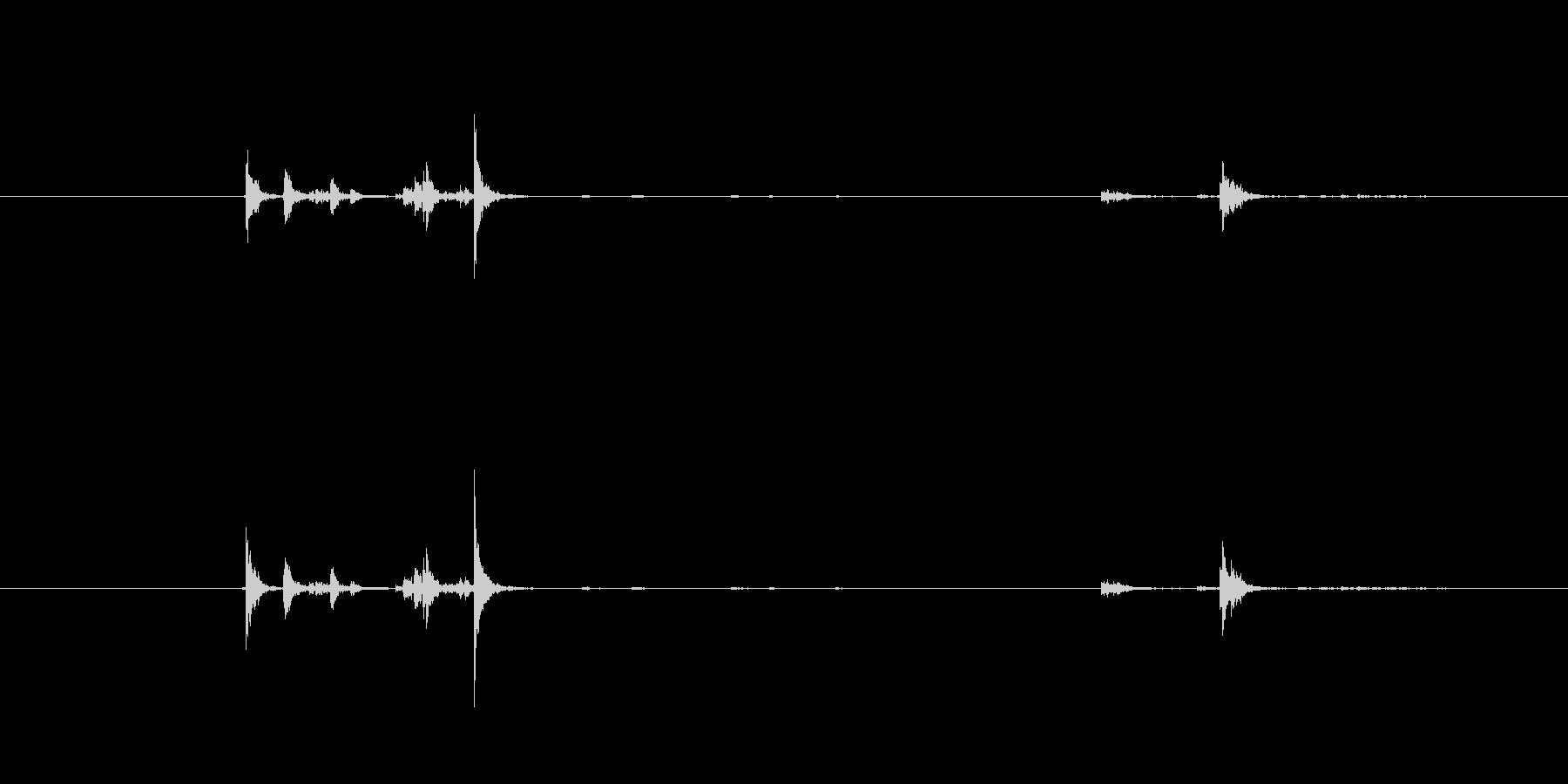 調理器具の蓋から出る音ですの未再生の波形
