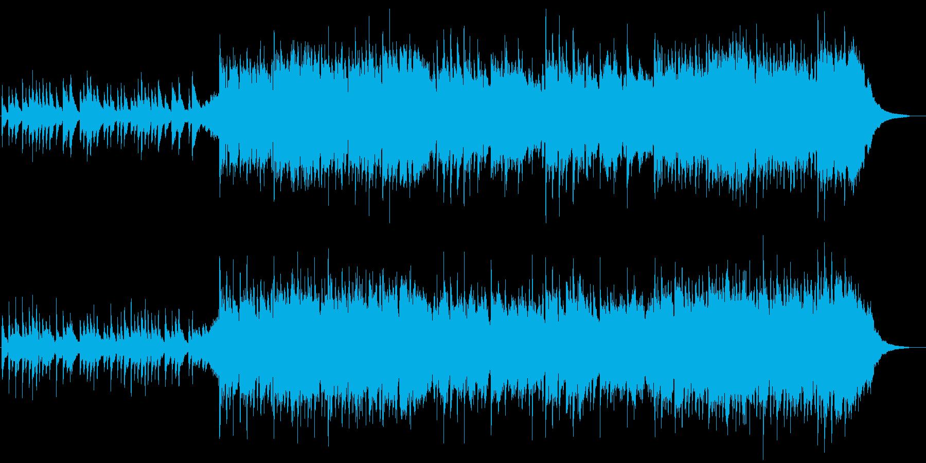 日本らしい切なく落ち着いた和風BGM10の再生済みの波形