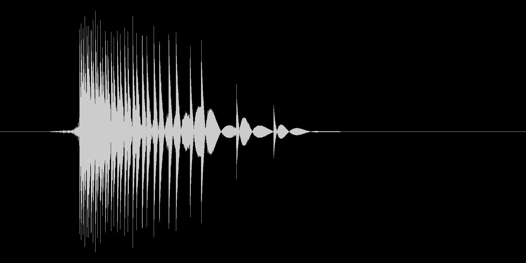 ゲーム(ファミコン風)ヒット音_012の未再生の波形