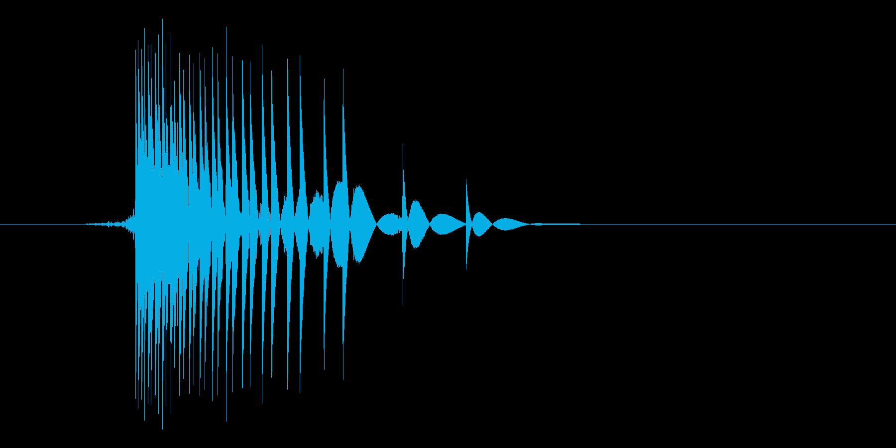 ゲーム(ファミコン風)ヒット音_012の再生済みの波形