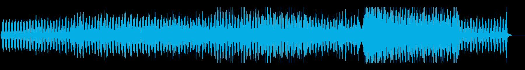 神秘的で無機質なテクスチャーの再生済みの波形