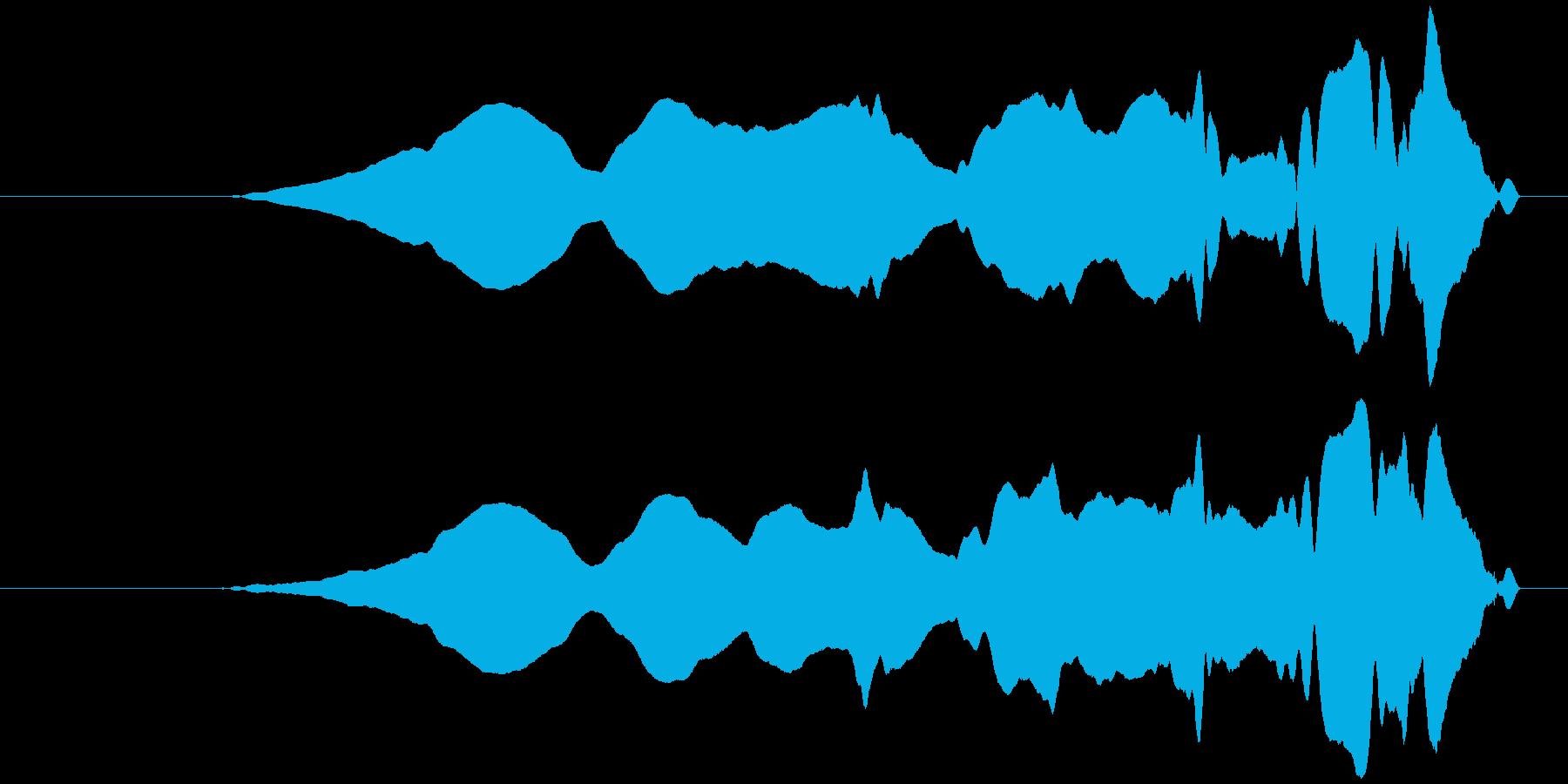 うねる風 オノマトペ(上昇)ヒヨヒヨ…の再生済みの波形