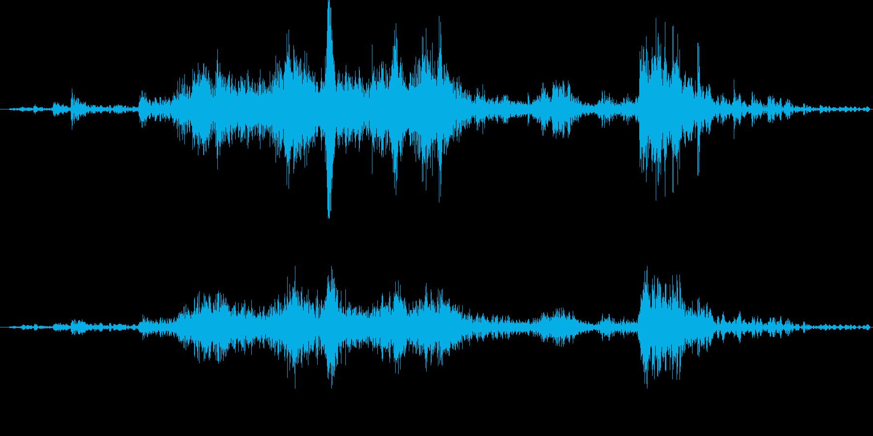 (ガラガラ)玄関を閉める音 (音量大)の再生済みの波形