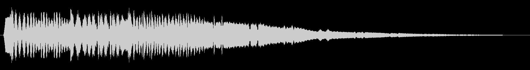 何かが涌き出るような音の未再生の波形