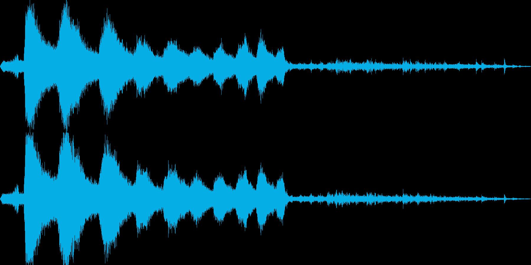 蒸気機関車発車の再生済みの波形
