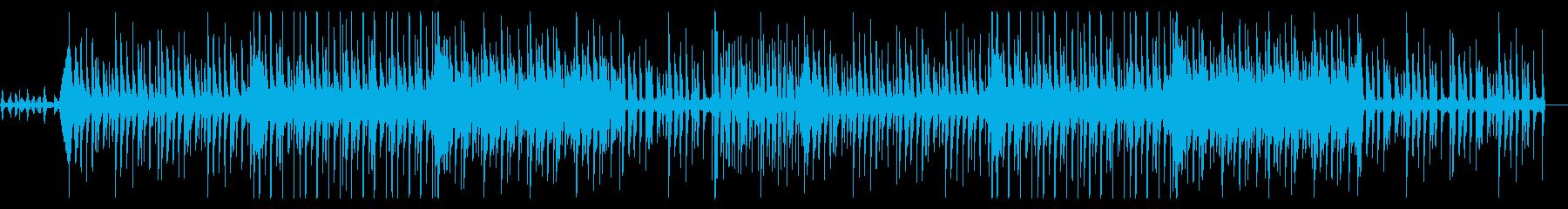不思議テイストのBGM風エレクトロ楽曲の再生済みの波形