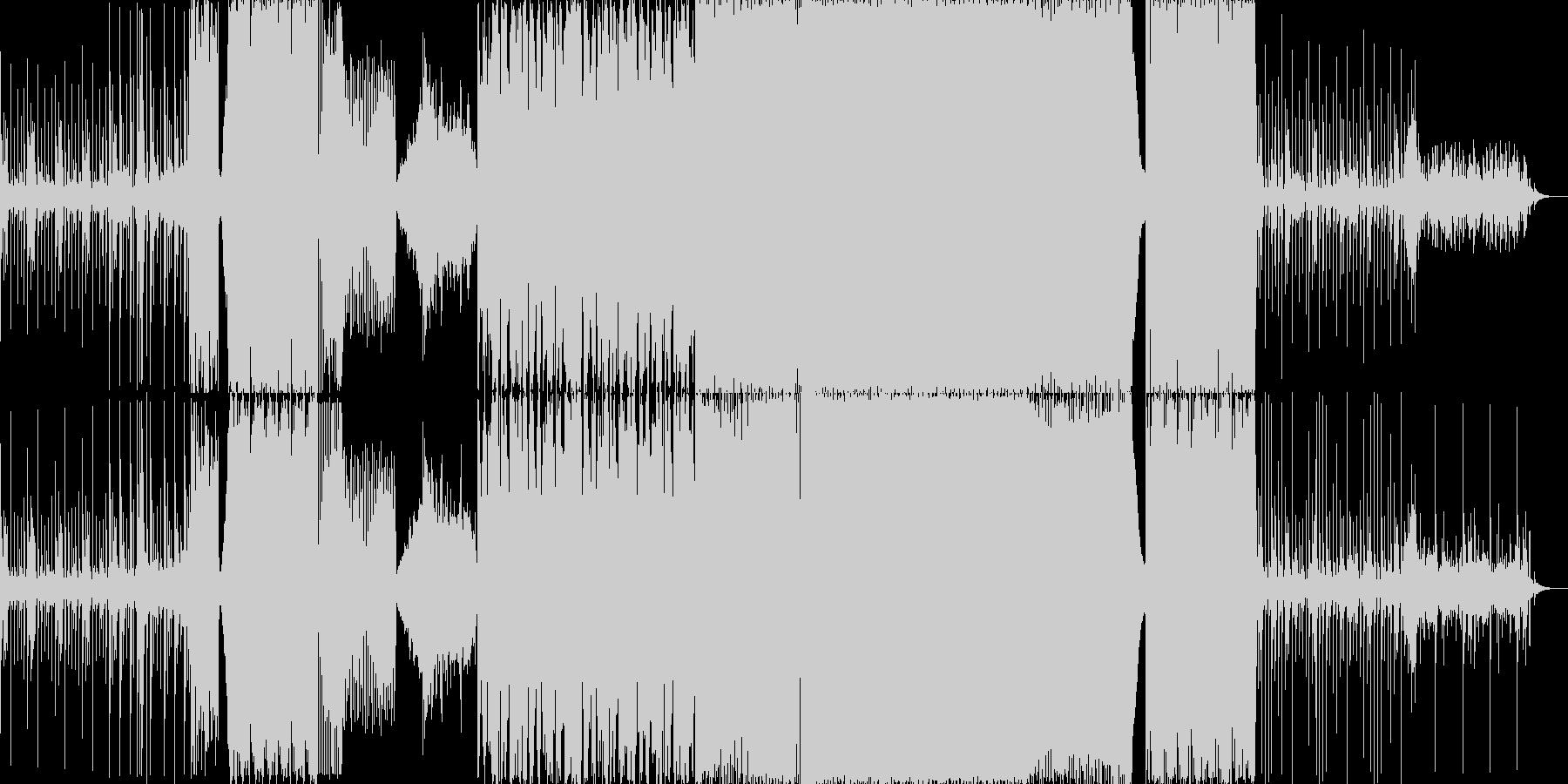 リズミカルでかっこいいエレクトロの未再生の波形