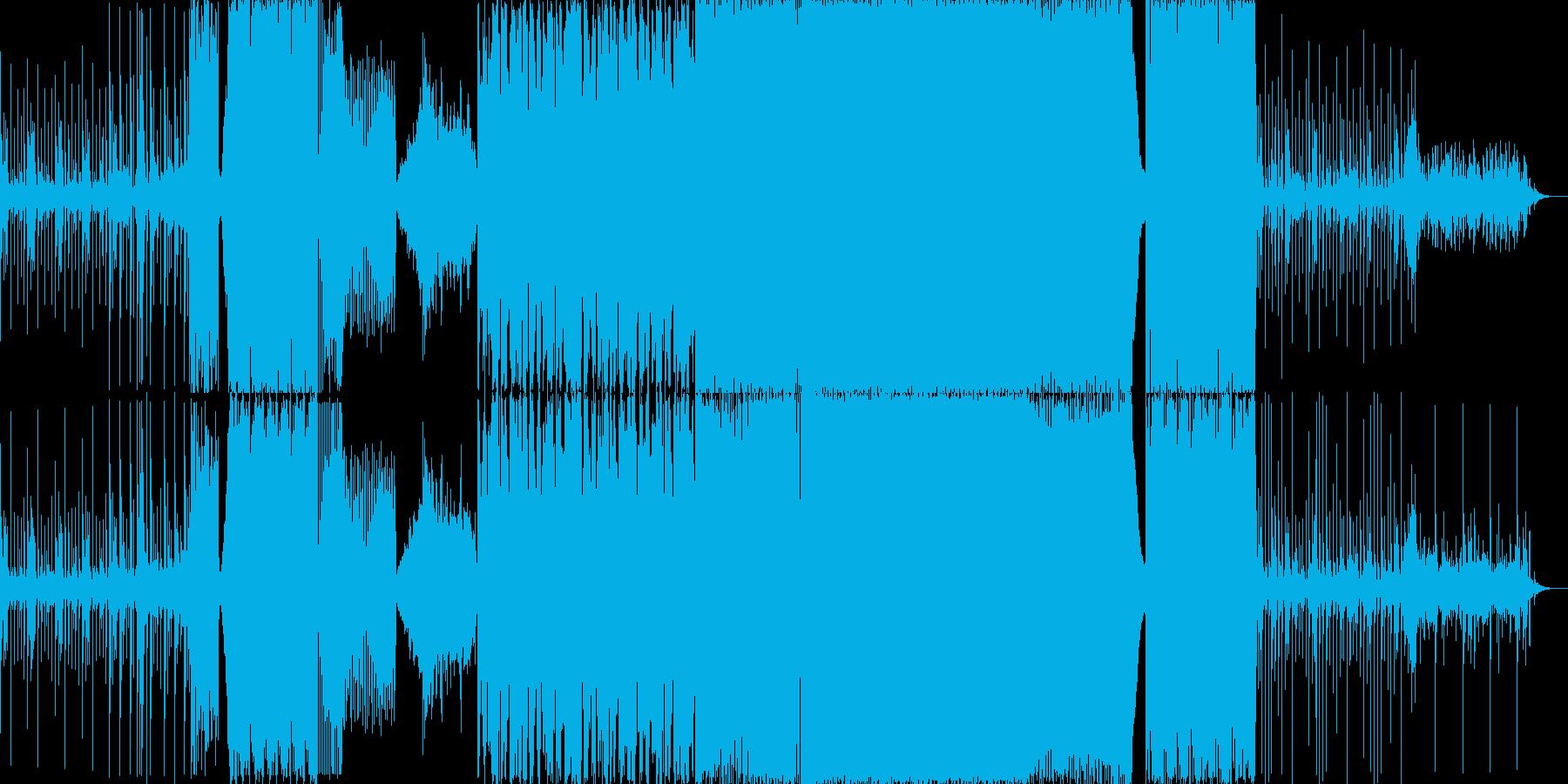 リズミカルでかっこいいエレクトロの再生済みの波形