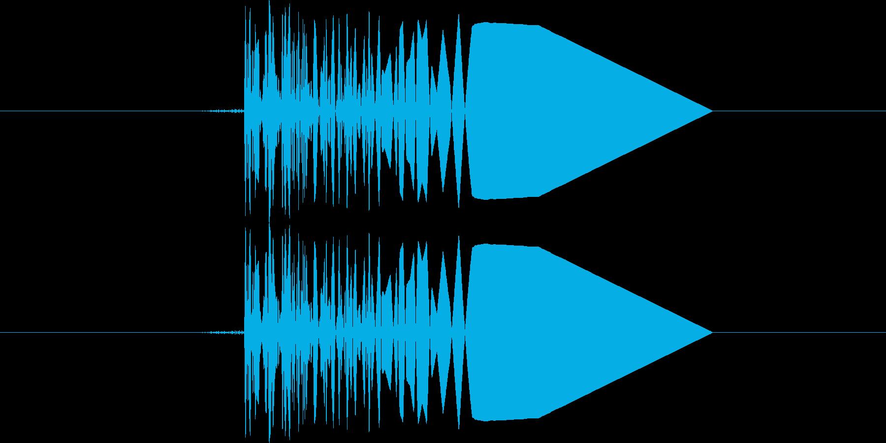 ファミコン系歩く音02 コツコツ(単音)の再生済みの波形