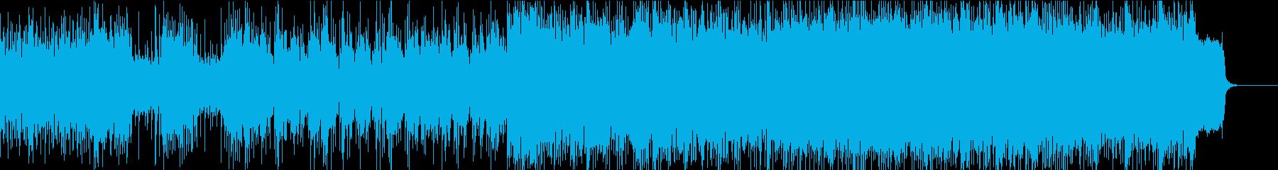 忍者を感じる和テイストのシンセロックの再生済みの波形