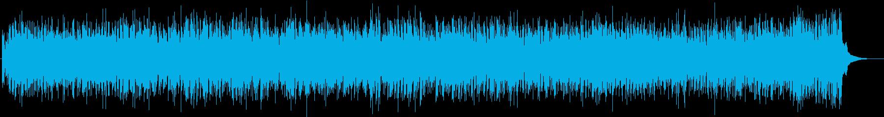 疾走感のあるレトロジャズフィドルバンドの再生済みの波形