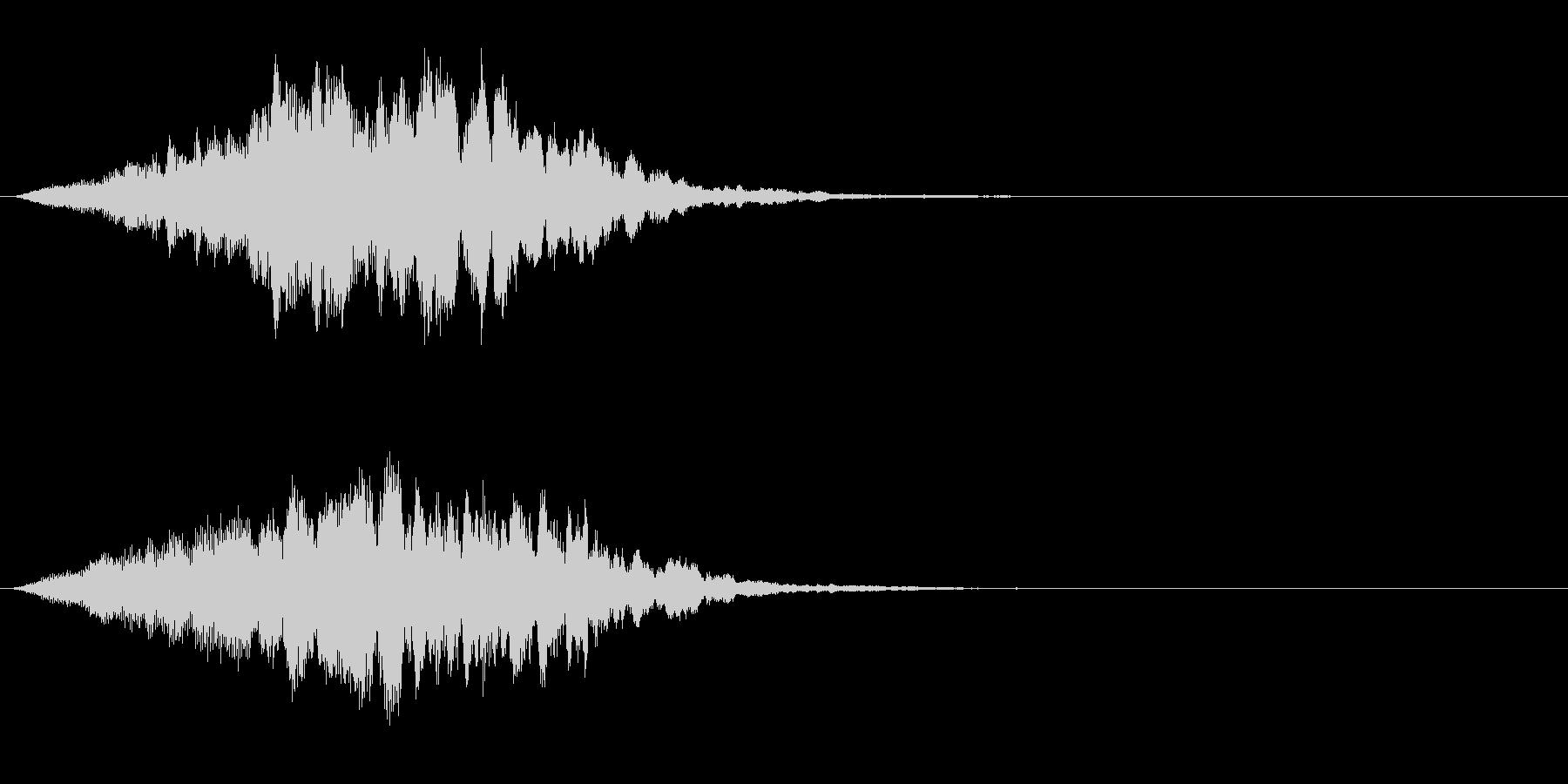 ゴーストが現れた時の音の未再生の波形
