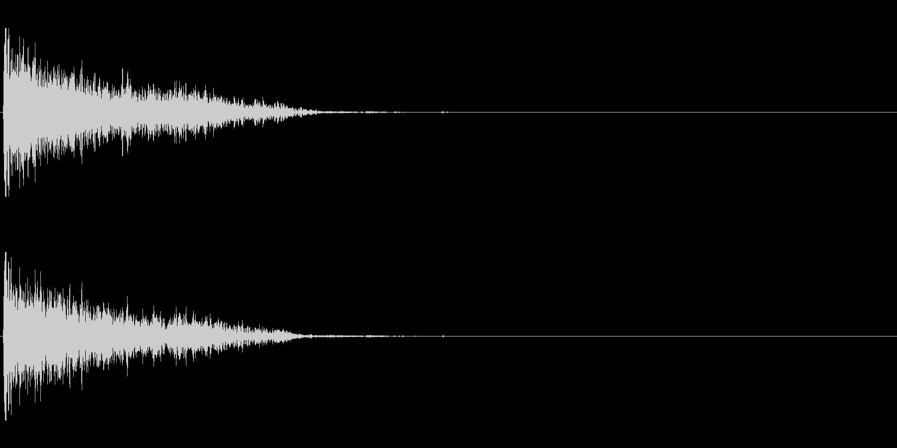 爆発;木屑06の未再生の波形