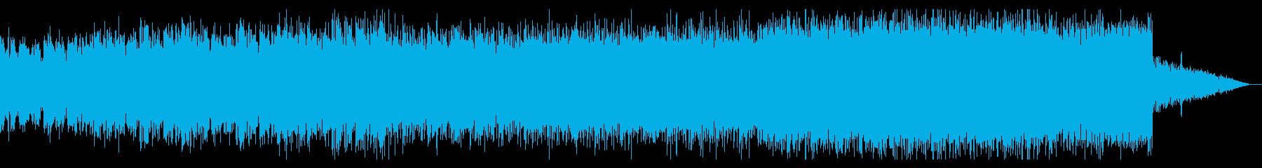 ダークで徐々に盛り上がるハウス・ミュージの再生済みの波形