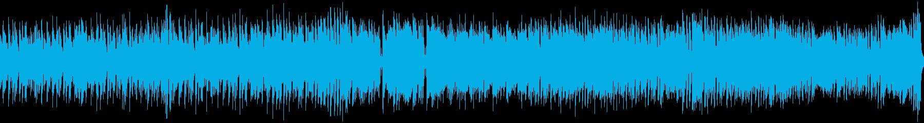 陽気なトロピカルBGM(ループ)の再生済みの波形