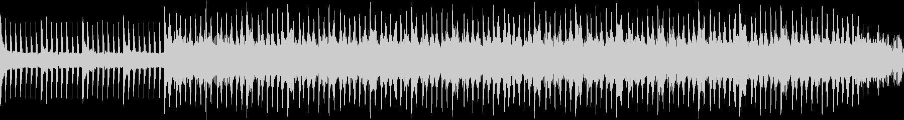 ピアノとシンセの落ち着いたループ曲の未再生の波形
