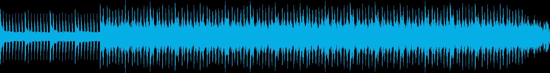 ピアノとシンセの落ち着いたループ曲の再生済みの波形