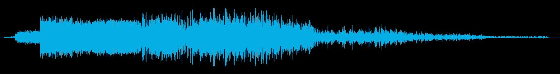 衝撃波遷移の再生済みの波形