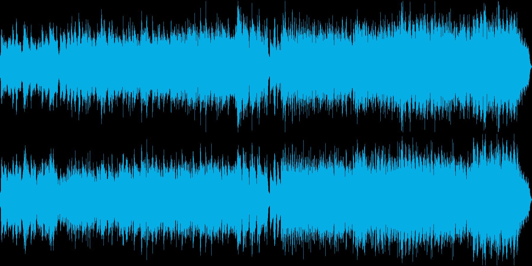 民族音楽的な雰囲気の劇伴風な曲の再生済みの波形