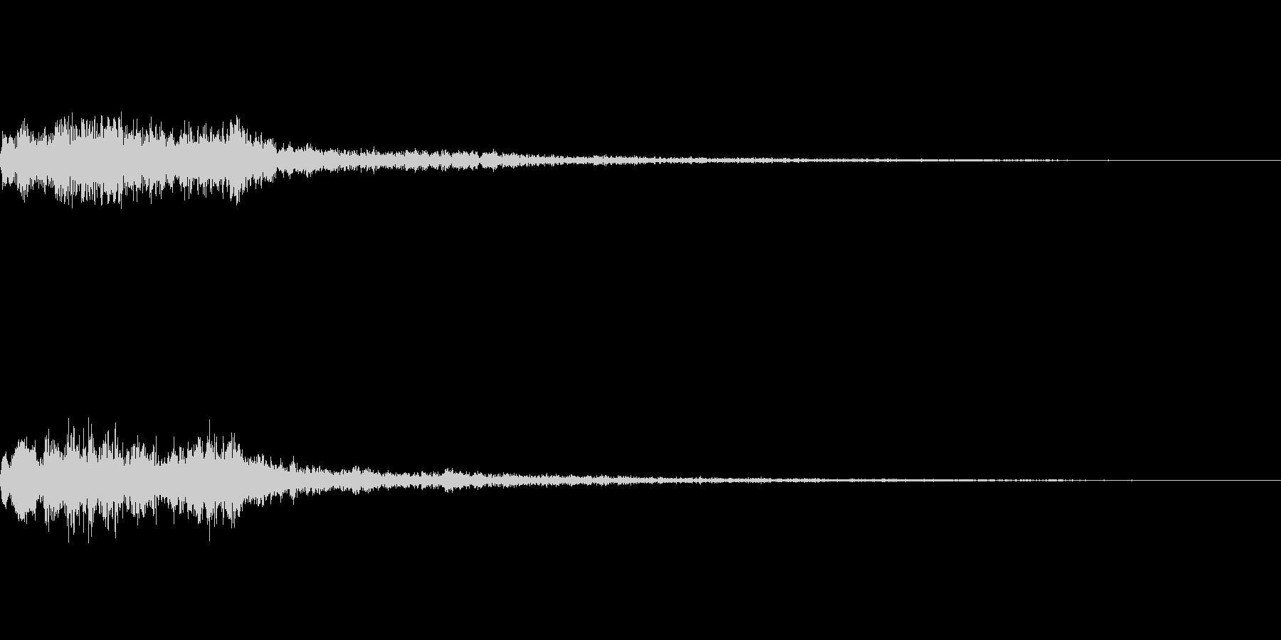メニュー系SE 決定音3の未再生の波形