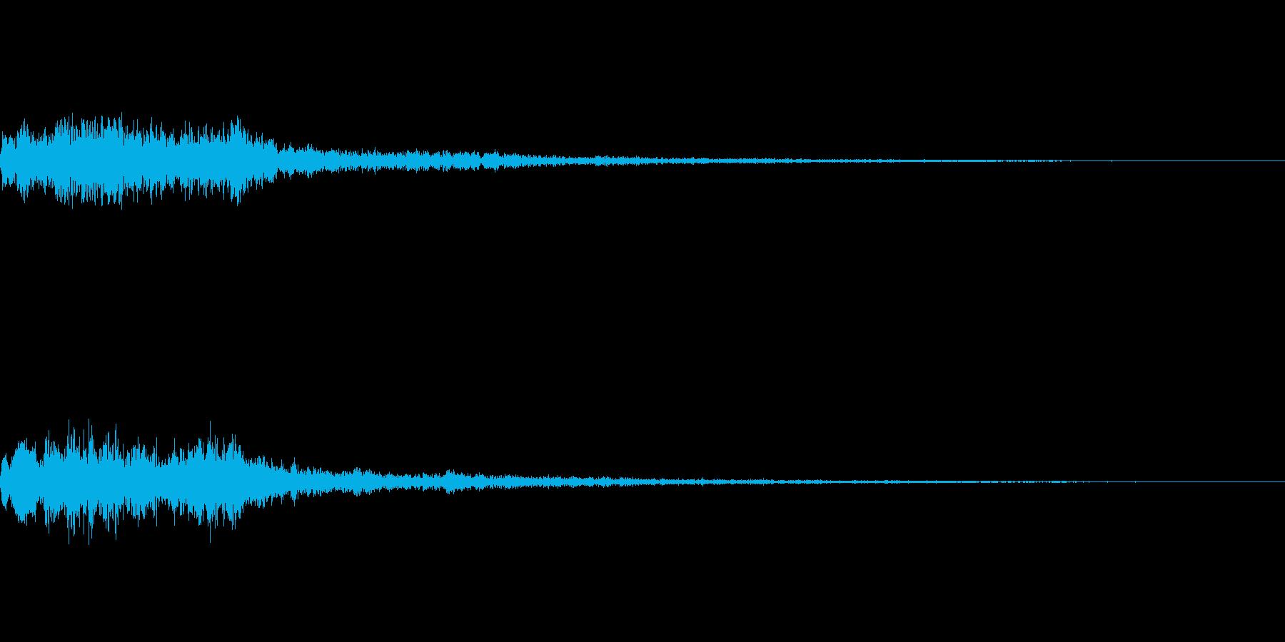 メニュー系SE 決定音3の再生済みの波形