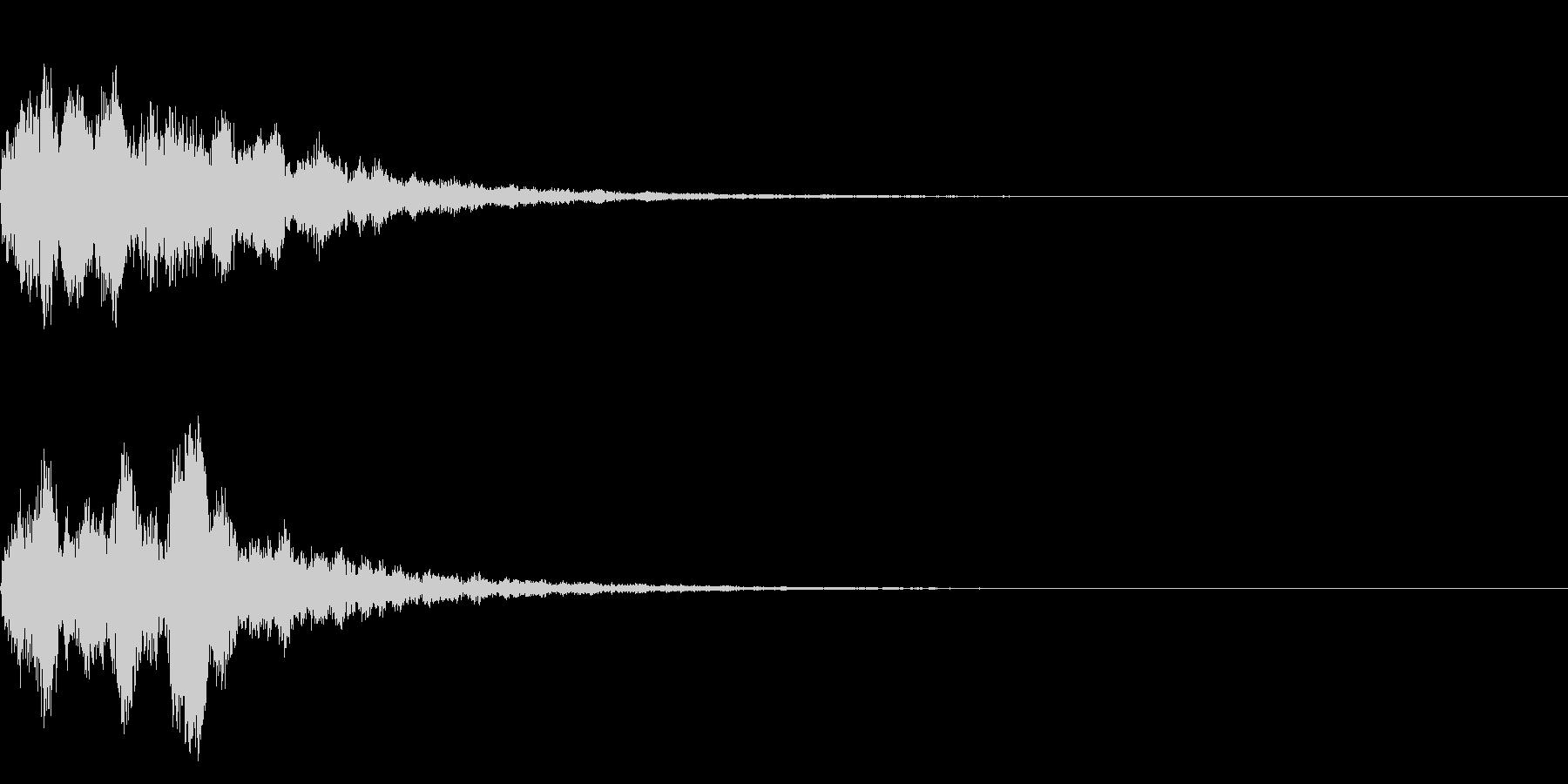 明るいテロップ音 ボタン音 決定音13bの未再生の波形