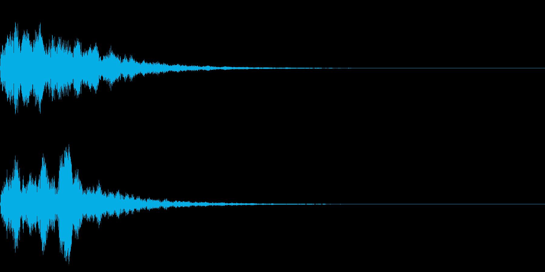 明るいテロップ音 ボタン音 決定音13bの再生済みの波形