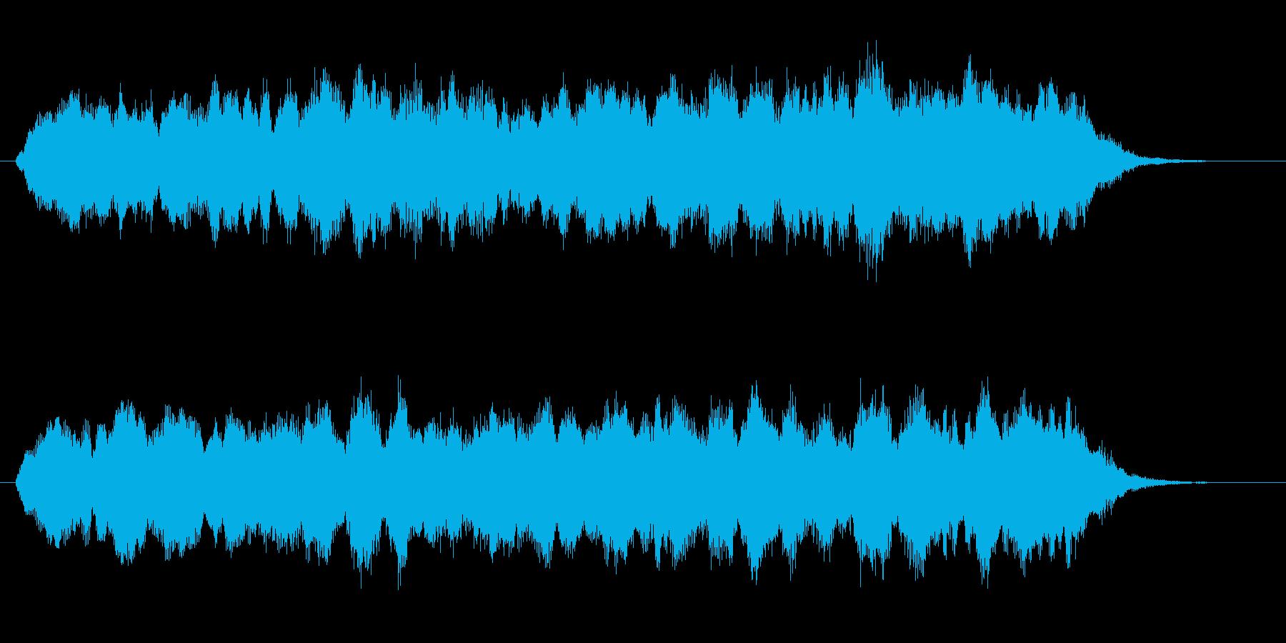 悠長でメローなヒーリングジングルの再生済みの波形