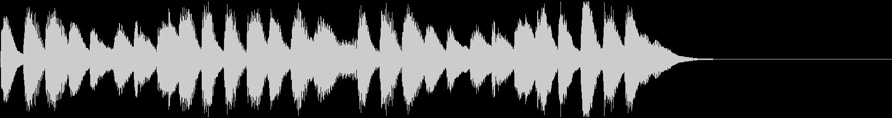 ふんわりほのぼのとしたピアノのジングルの未再生の波形