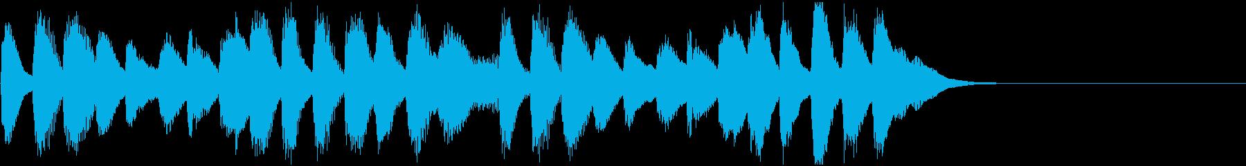 ふんわりほのぼのとしたピアノのジングルの再生済みの波形