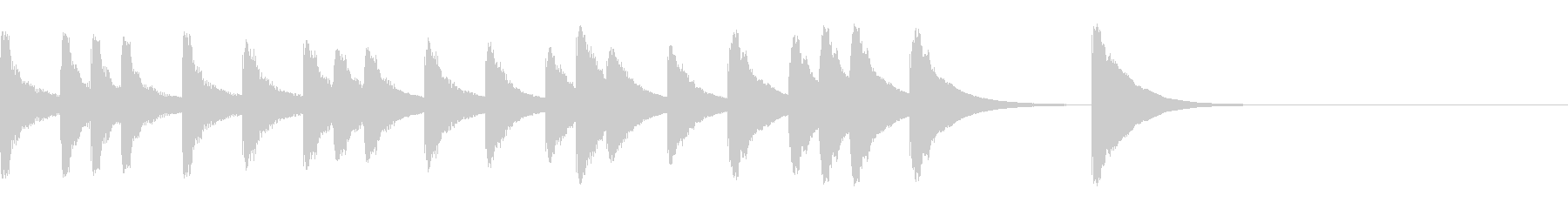 すこし間を持たせるジングル6秒の未再生の波形