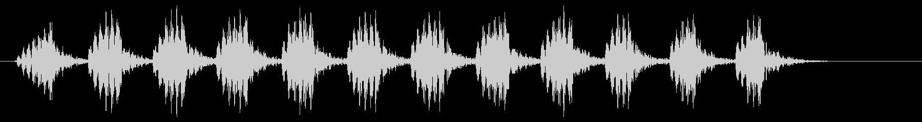 コオロギ 鳴き声 ギィギィギィ…(短い)の未再生の波形