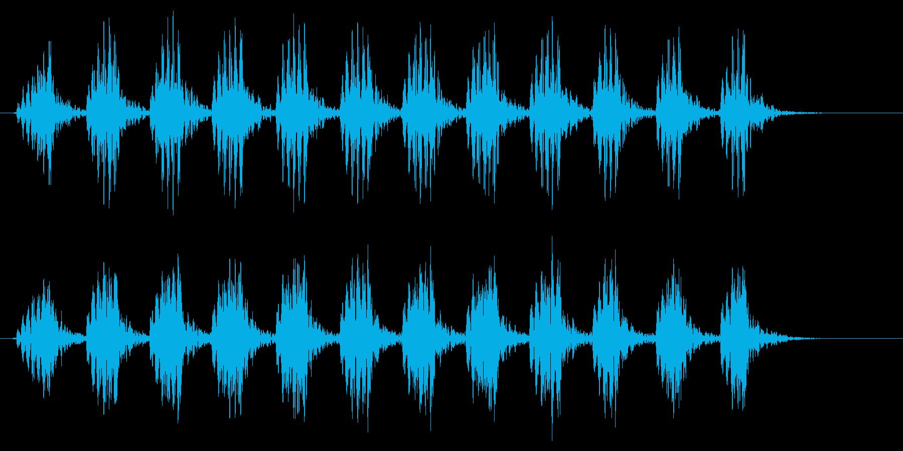 コオロギ 鳴き声 ギィギィギィ…(短い)の再生済みの波形