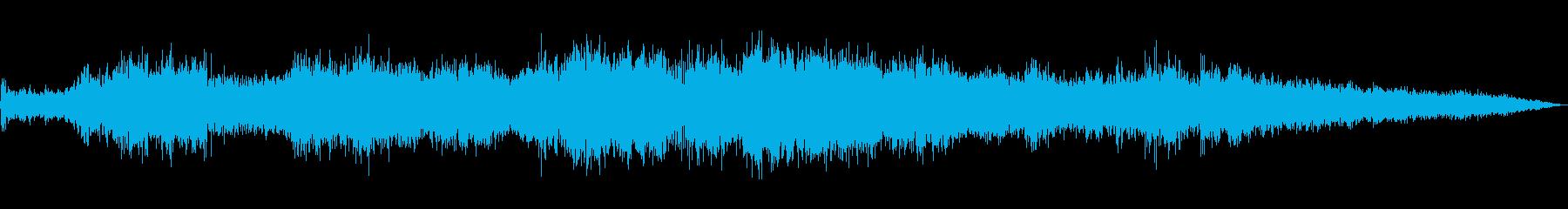 木を揺らす暴風雨(強風、豪雨、木)の再生済みの波形
