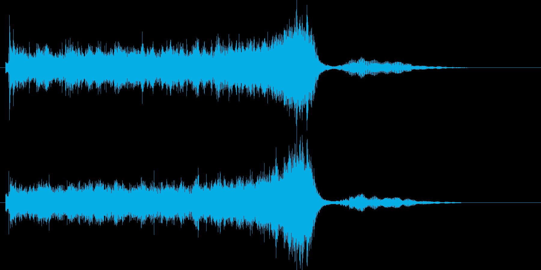 ホラーで奇妙な効果音の再生済みの波形