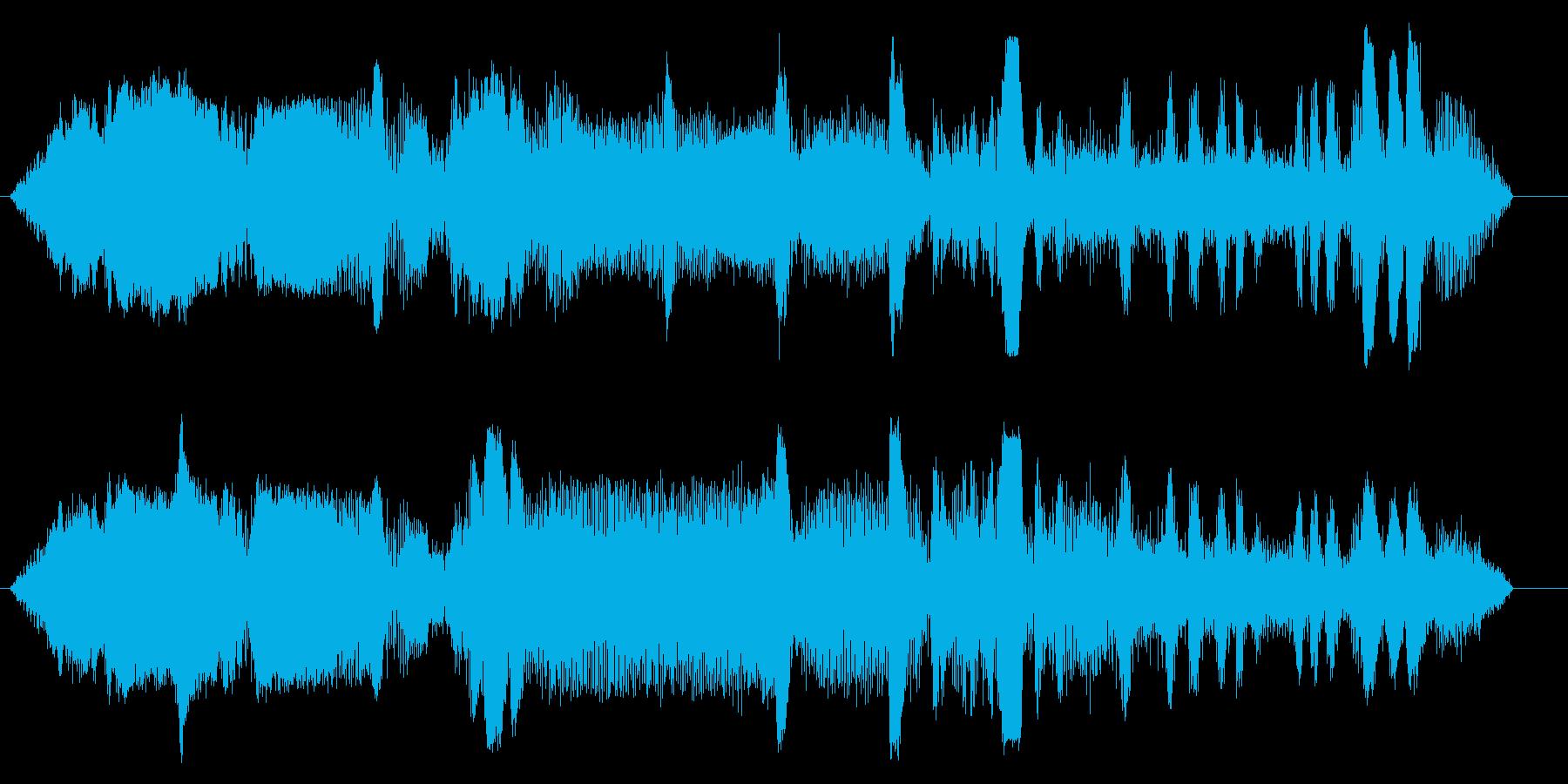 ドラッグボート;スタート/アイドル...の再生済みの波形