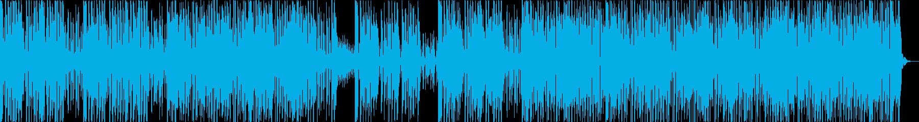 アップテンポで急かされるBGMの再生済みの波形