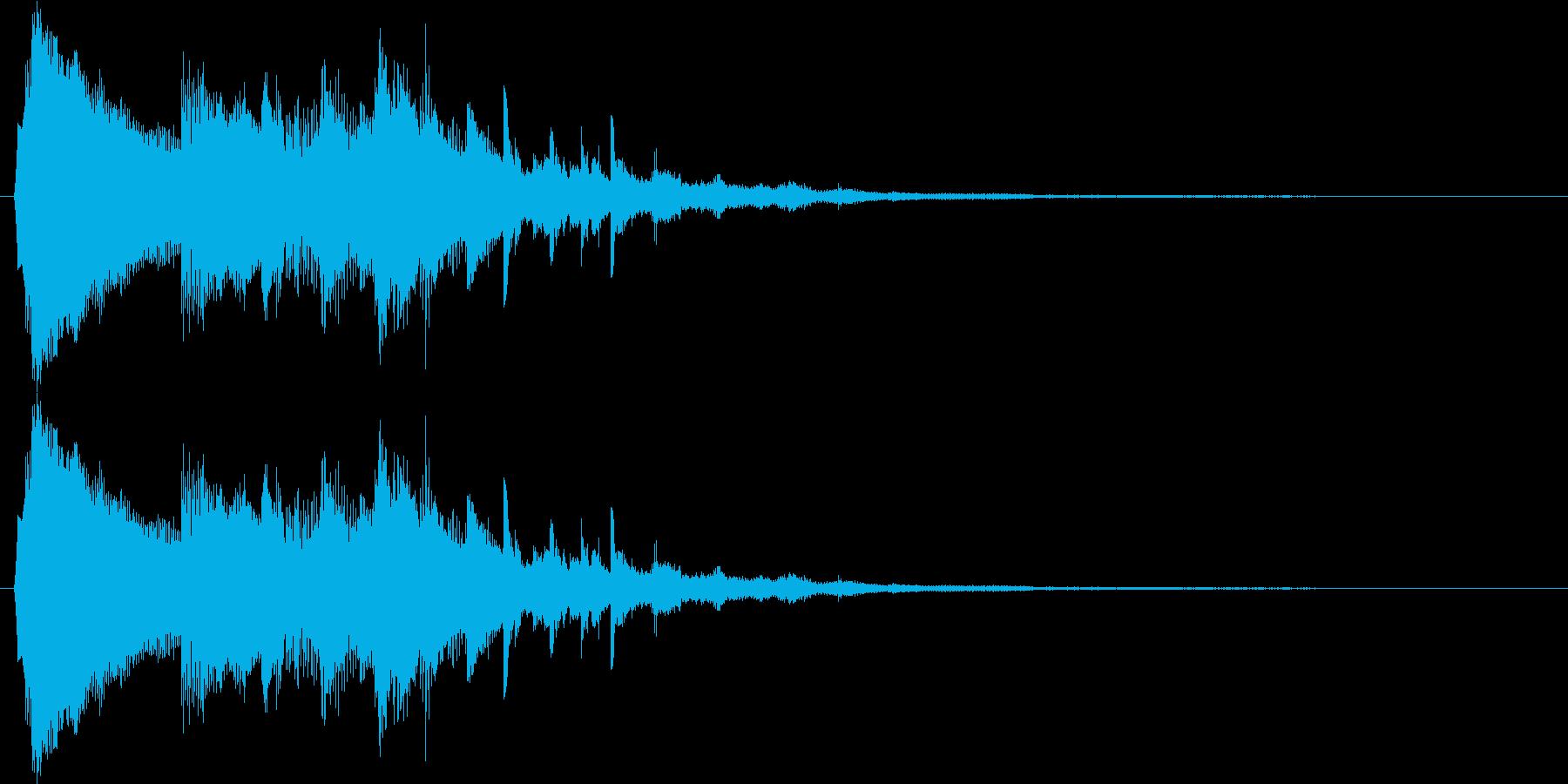 キラキラとしたベルのスタート音の再生済みの波形