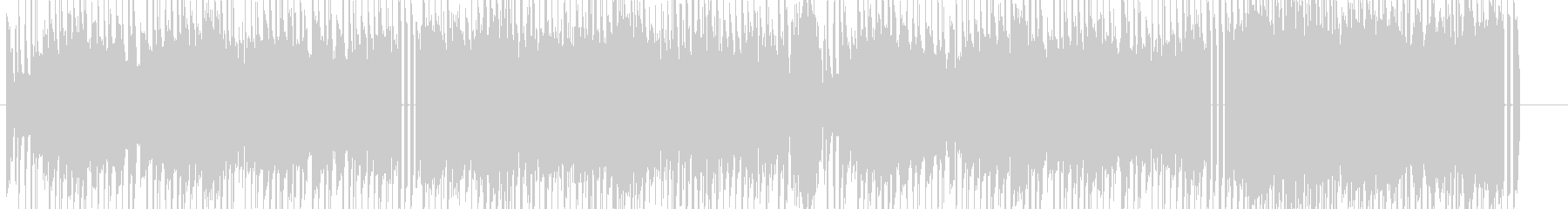 ほのぼのとしたエレクトロニカの未再生の波形
