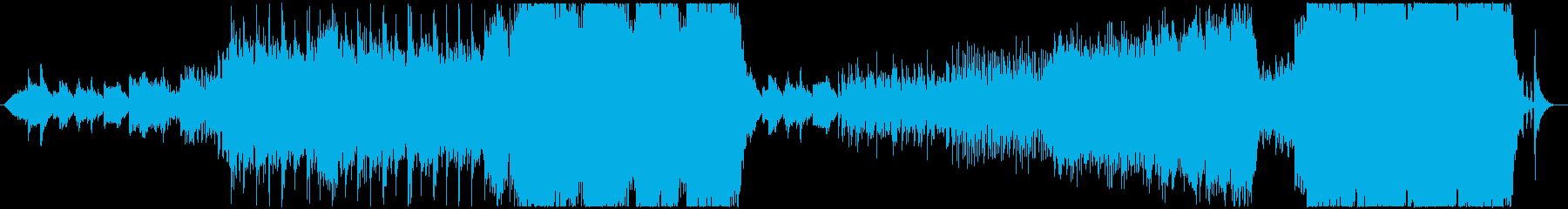 静と動の両立するエピック風オーケストラの再生済みの波形