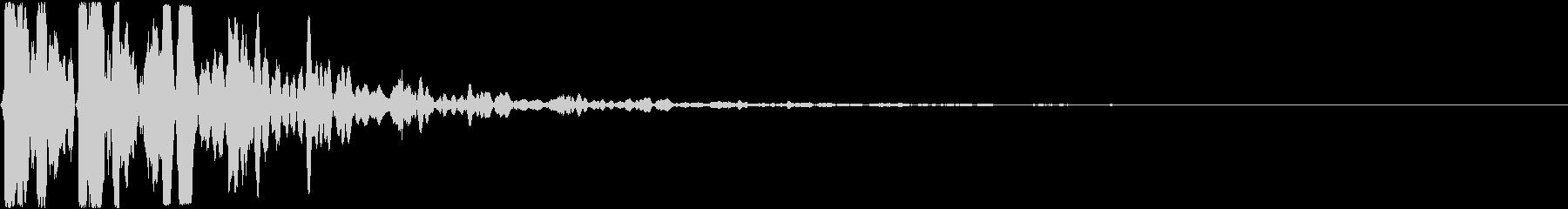 カキーン(氷系サウンド)の未再生の波形