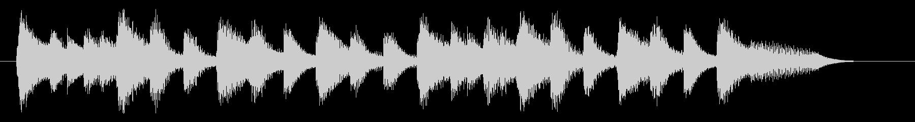明るく落ち着いたピアノジングル 三拍子の未再生の波形