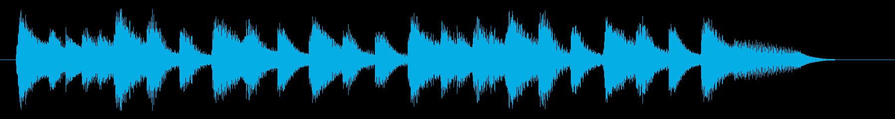 明るく落ち着いたピアノジングル 三拍子の再生済みの波形