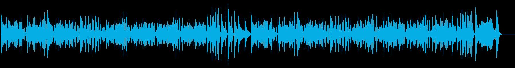 何かを作っている時の曲の再生済みの波形