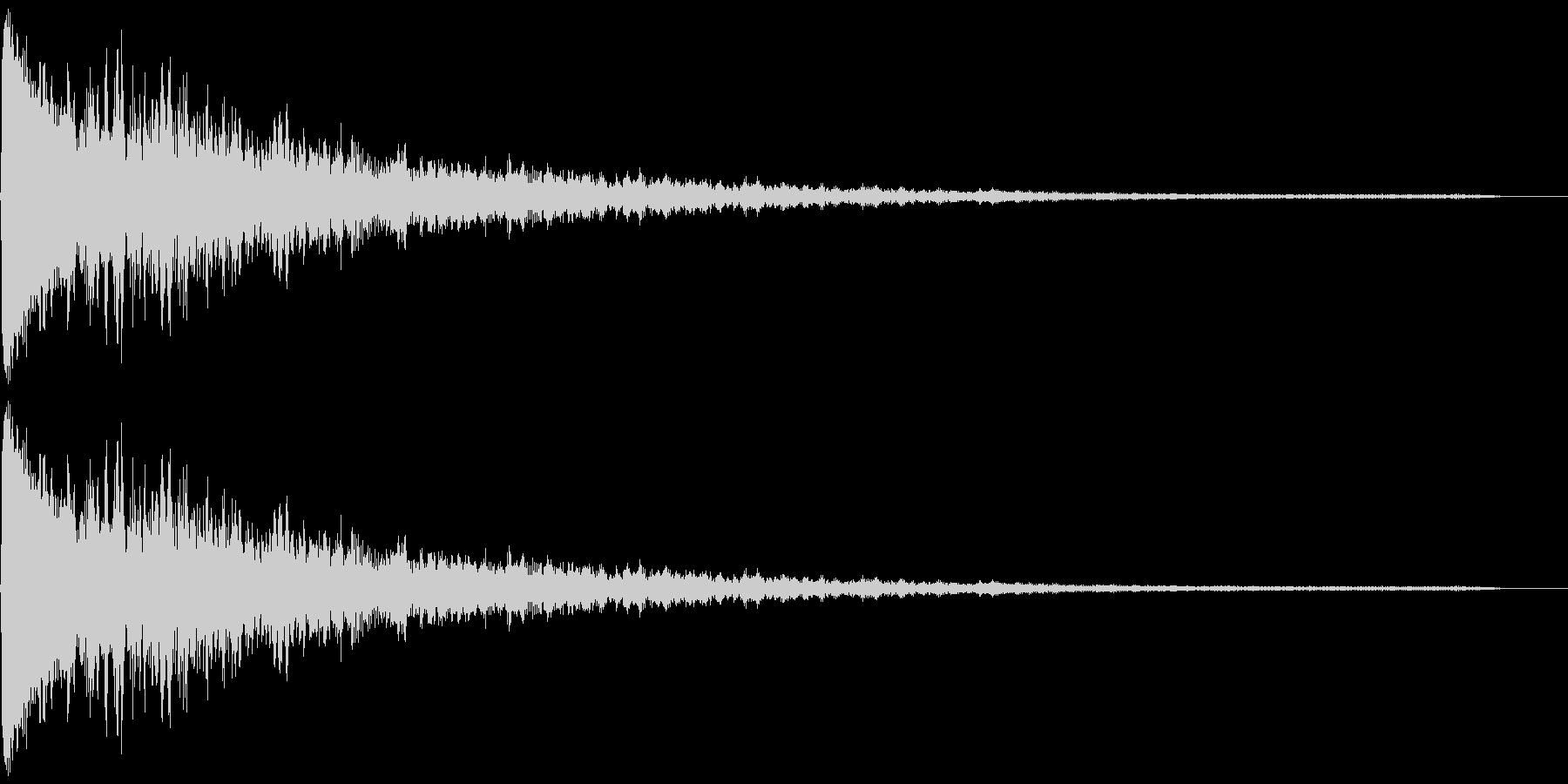ポーン(シンプルなエラー音)の未再生の波形