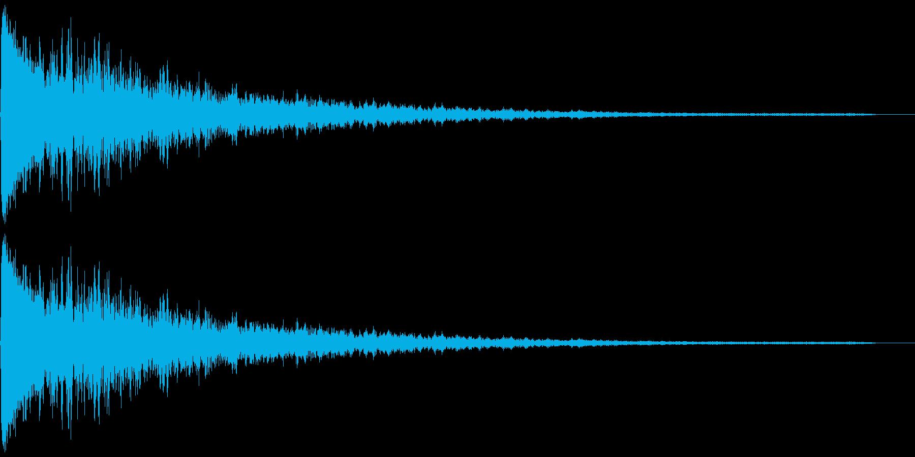 ポーン(シンプルなエラー音)の再生済みの波形