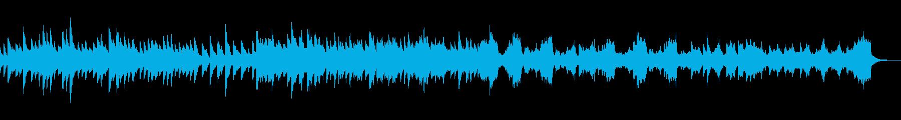 ピアノ、ストリングスのバラード的旋律の再生済みの波形