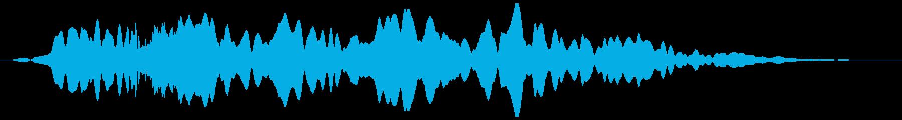 ヒュ〜ウ〜ン・・・(不気味な効果音)の再生済みの波形