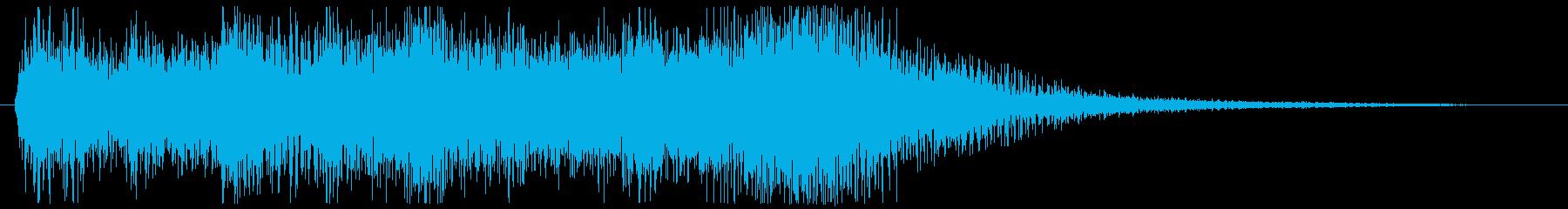 明るいフルオーケストラのジングルの再生済みの波形