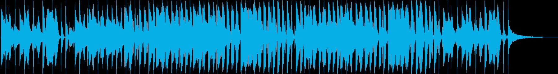 陽気で穏やかな口笛メロディのBGM♪の再生済みの波形